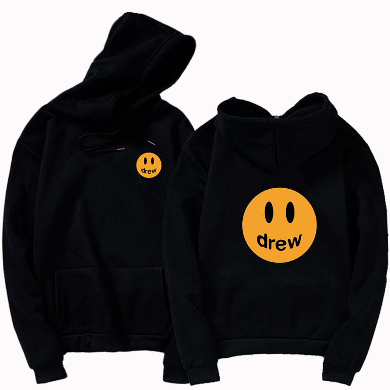New Fashion Hoodie Men Justin Bieber The Drew House Smile Face Print Women Men Hoodies Sweatshirts Hip Hop Pullovers