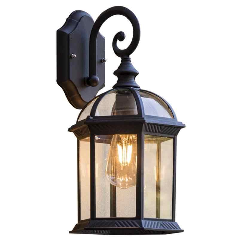خمر الجدار مصباح E27 لمبة الشمعدان تركيبات إضاءة الأسود البرونزية وحدة إضاءة LED جداريّة أضواء في الهواء الطلق الشرفة منزل المنزل ساحة مصباح إضاءة حديقة