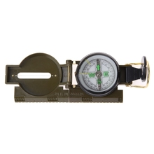 New Professional Military Army Metal Sighting Compass Clinometer Camping Outdoor Tools Multifunction Compass