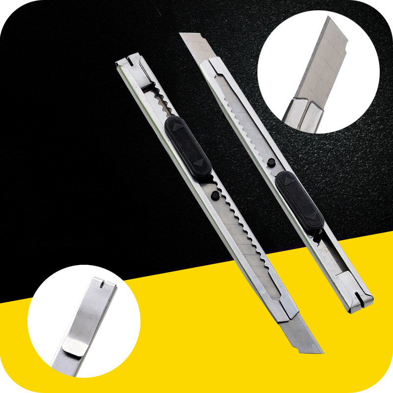 Manufacturers Direct Selling Stainless Steel Small Knife Wallpaper Knife Qiang Zhi Dao Box Opener Cutter Paper Cutter Wholesale