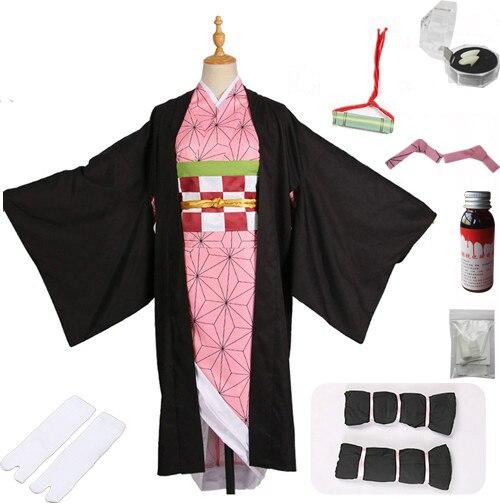 Лидер продаж; Новинка; аниме «Demon Slayer: Kimetsu no Yaiba»; Косплей; Kamado Nezuko; женская японская одежда; костюм для косплея - Цвет: package  B