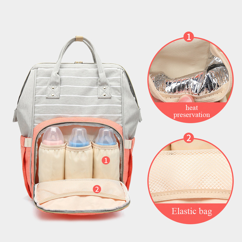 Lequeen Fashion Mummy Maternity Nappy Bag Large Capacity Nappy Bag Travel Backpack Nursing Bag for Baby Care Women Stroller Bag
