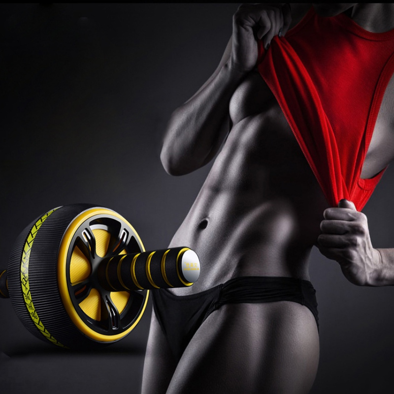 Fitness-Equipment Abdominal-Wheel-Roller-Trainer Ab-Roller Gym Body-Building Home Exercise