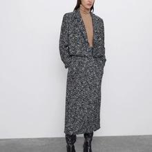 ZA autumn winter Women's suit casual chic coat tweed jacket female button decora