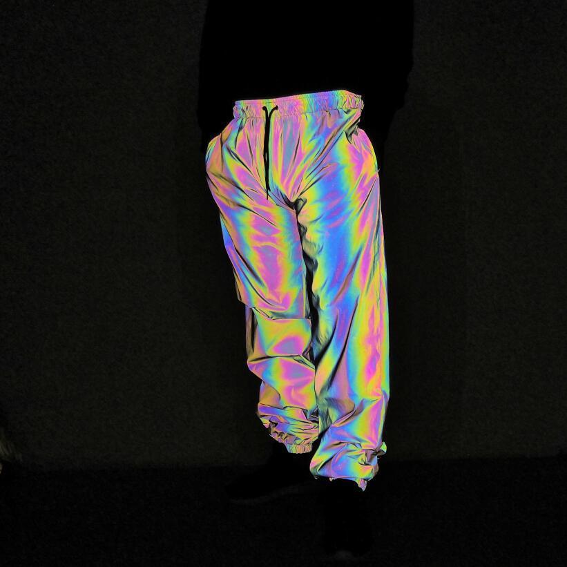 COO 2020 Men Dazzle Colour Glance Seven Color Leisure Trousers Teenagers Hip-hop Dancing Feet Pants