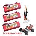 Модернизированная батарея для Wltoys 144001 car 2s 7,4 В 3500 мАч, литий-полимерная батарея T Plug для Wltoys 1/14 144001, аккумулятор для радиоуправляемого автомо...
