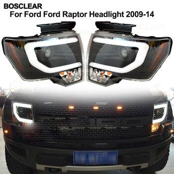 For Ford Raptor F150 led headlights brake light+taillight 2009- 2016 2017 2018 head lamp front Bi-Xenon Lens Double Beam HID KIT
