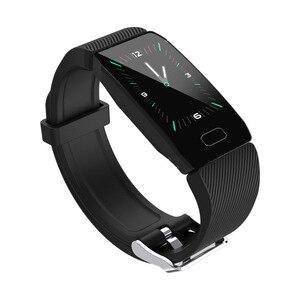 Image 3 - جديد سوار ذكي جهاز تعقب للياقة البدنية ضغط الدم مقاوم للماء سوار لياقة بدنية مراقب معدل ضربات القلب النشاط المقتفي SmartWatch الرجال
