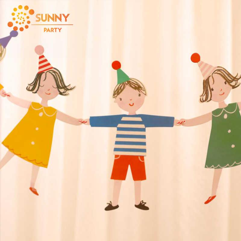 צבעוני פסים דוט הדגלים באנטינג גרלנד ילד שמח יום הולדת מכתב תליית דגלי הבאנר תינוק מקלחת מסיבת יום הולדת דקור