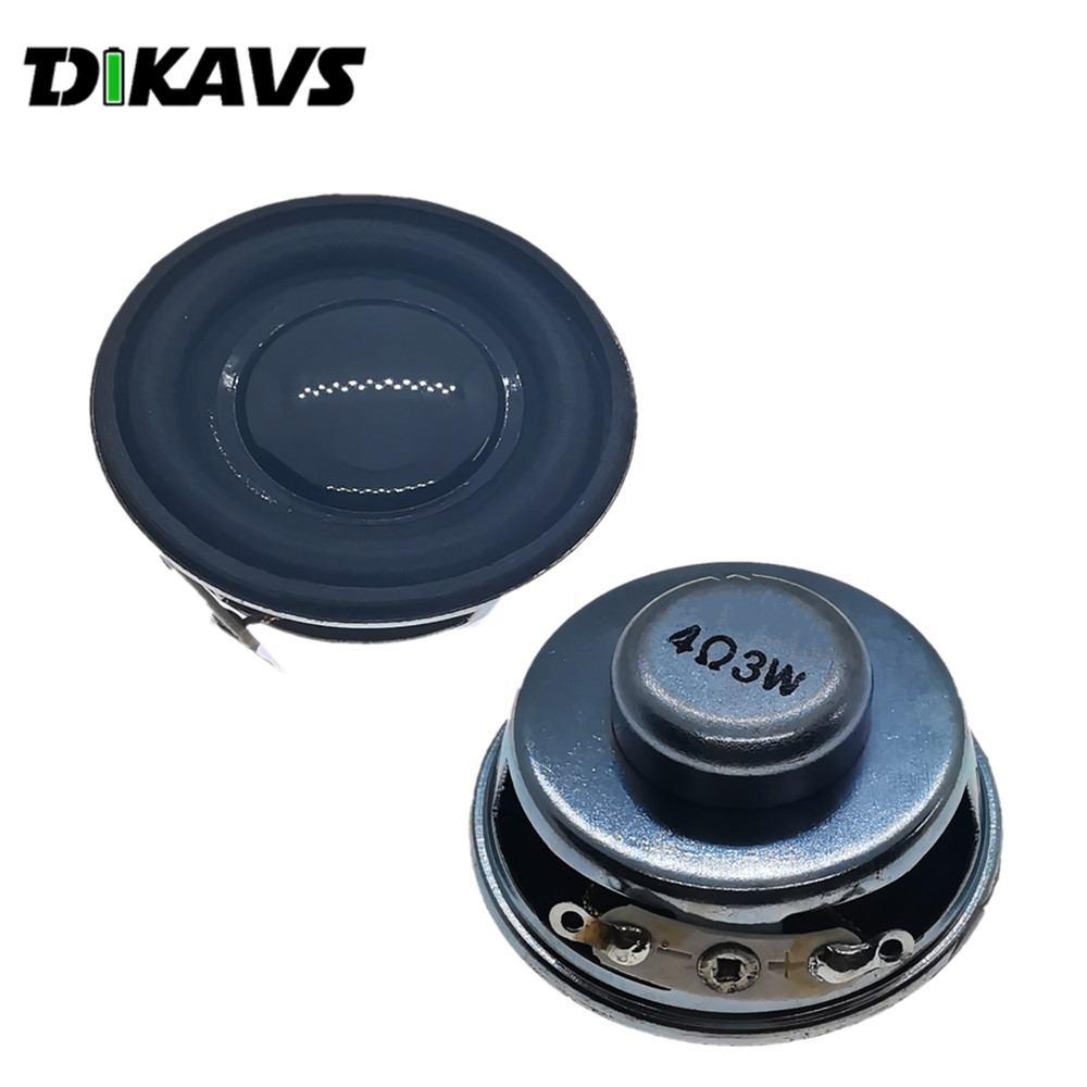 2PCS  Speaker Horn 3W 4 Ohm Diameter 40mm Mini Amplifier Rubber Gasket Loudspeaker Trumpet Acoustic Speaker Diy Speakers