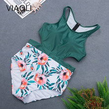 Favor Sexy Lady Retro Floral Hollow Zipper Swimwear Women One piece Swimsuit Female High Waist Swim Suit Bathing Suit Monokini Trikini compare