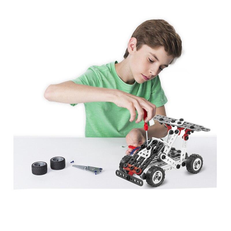 Оригинальный spin master Meccano 10 видов Набор для творчества модель многофункциональные части головоломка набор игрушек - 3