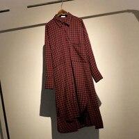 TVVOVVIN Plus Size Plaid Blouse Women Clothes 2019 Pocket Irregular Elegant Shirt Top Fashion Turn Down Collar Slim Autumn D398