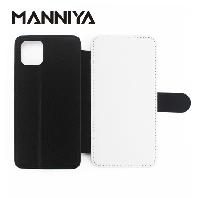 MANNIYA Leeg Sublimatie TPU + PU leather Cover voor iphone 11/11 PRO/11 PRO MAX/6 7 8 X XS XR XS MAX met card houders 10 stks/partij