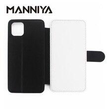 MANNIYA ブランク昇華 TPU + pu レザーカバーのための iphone 11/11 プロ/11 プロマックス/6 7 8 X XS XR XS でカードホルダー 10 ピース/ロット