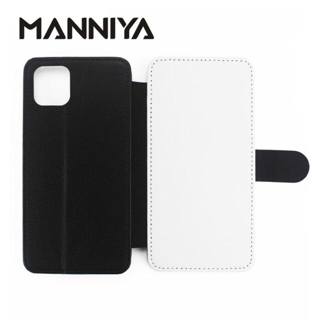 غطاء من الجلد المطاطي PU + PU لهواتف iphone 11/11 PRO/11 PRO MAX/6 7 8 X XS XR XS MAX مع حوامل البطاقات 10 قطعة/الوحدة