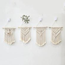 Ins tapeçaria de parede infantil, tapeçaria de parede pequena de algodão de tecido à mão, decoração boho, adereços fotográficos, farol nórdico, pendurar na parede