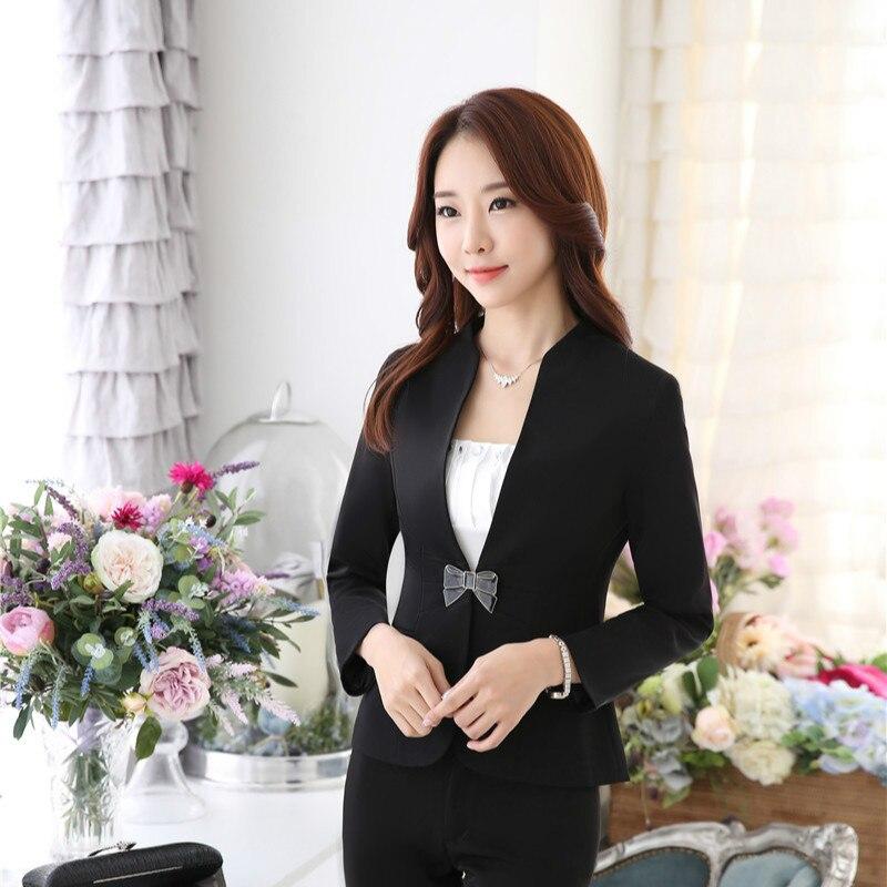 Female Elegant Formal Office Work Wear Women Blazers and Jackets Business Clothes Ladies OL Uniform Styles Blazer Casual Long
