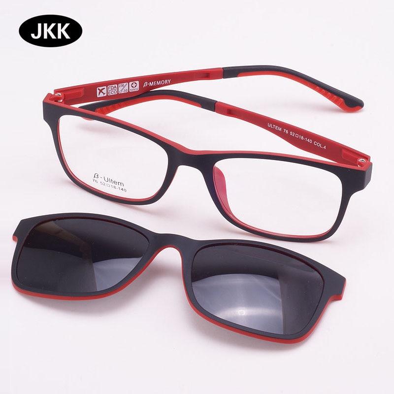 Glasses Frame for women With Magnet Polarized Clip Sunglasses Ultem Glasses Full Rim Prescription Eyeglasses Uv400 Soft Temples