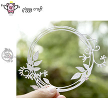 Piggy Craft metal cutting dies cut die mold Autumn letter leaf ring Scrapbook paper craft knife mould blade punch stencils dies(China)