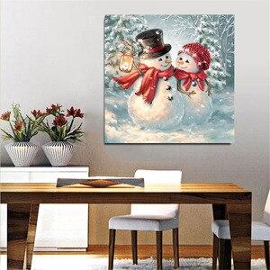 5d алмазная живопись полная дрель квадратный Санта Клаус Снеговик бриллианты вышивка Стразы картина мозаика Рождественское украшение