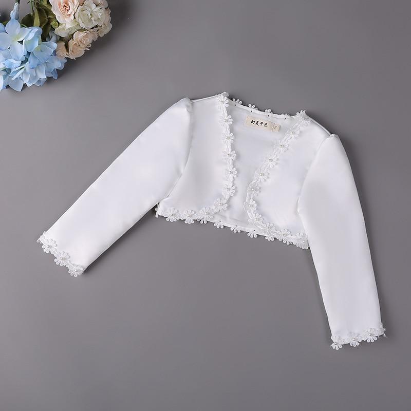 Новинка; Модное Болеро для маленьких девочек; Детская кружевная короткая куртка с вырезами; Детские вечерние Свадебные пальто; Накидка