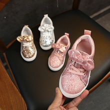 Girls Sneakers 2019 Fashion Sequined Children's Casual Shoes Sneakers Bow Childr