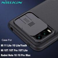NILLKIN-funda protectora de cámara para Xiaomi Redmi Note 10 Pro, cubierta deslizante para lente, para Mi 10T Pro MI 11 Lite 10S