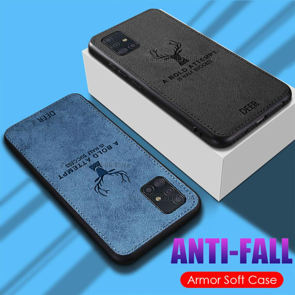 Soft Cloth Phone Case For Samsung Galaxy A21S A51 A71 4G 5G A91 Case Shockproof Fabric Case For Samsung M31 M30S M21 A20 A30 A50