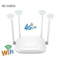 300Mbps Wifi router 4G LTE router 3G / 4G wireless router CPE 4 con la carta SIM slot 4 antenne esterne fino a 32 utenti WAN / LAN