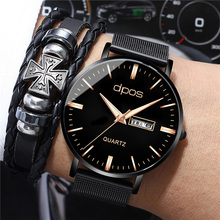 купить Top Brand 2019 New Fashion Quartz Clock Mens Watches Rose gold Luxury Watch For Men Elegant Waterproof Wrist Watch Reloj Hombre дешево