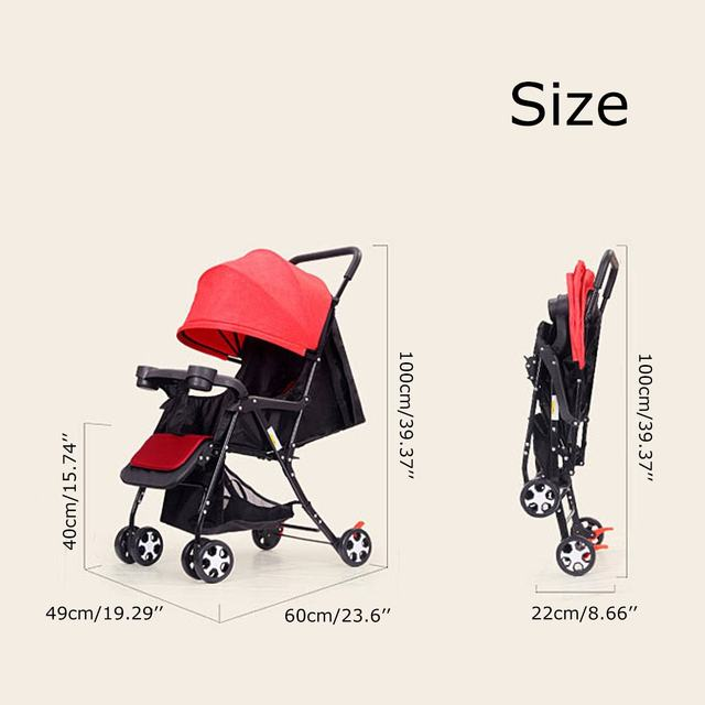 Bioby Multifunctional 3 in 1 Baby Stroller  High Landscape Stroller Safety Gold Baby Carriage Newborn Stroller for 0-36 months