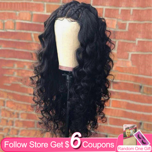 Aircabin 32 30 Inch 13x6x1 HD T Part Lace Frontal Wigs Loose Deep Wave Brazilian Remy Human Hair Transparent Lace Wig For Women