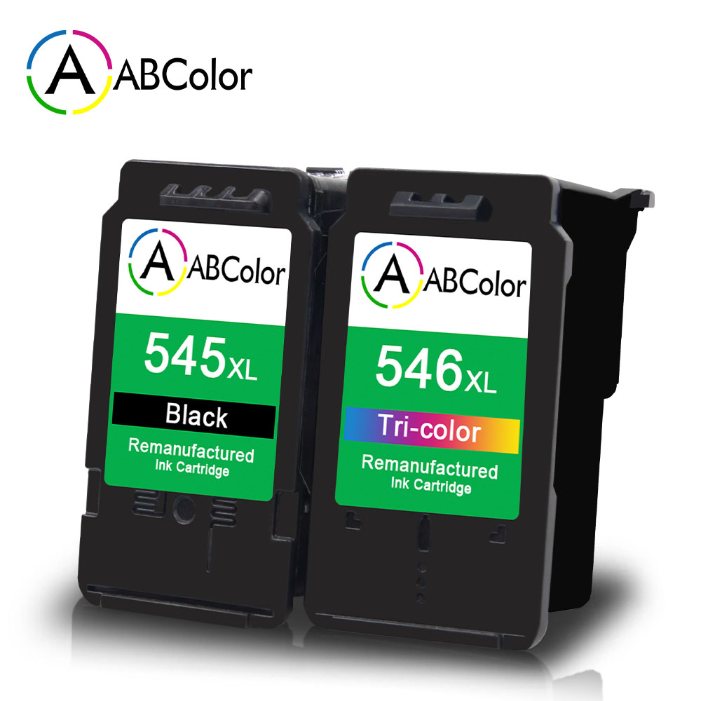 2Pcs PG545 CL546 Remanufactured Ink Cartridges Compatible for <font><b>Canon</b></font> Pixma Ip2850 MG2450 MG2550 MG2950 MG3050 TS205 TS305 image