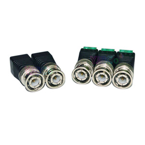 Free Shipping 10Pcs Mini Coax CAT5 To Camera CCTV BNC UTP Video Balun Connector Adapter BNC Plug For CCTV System Accessories(China)
