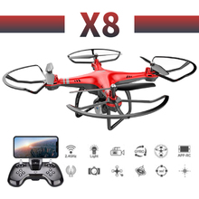 X8 profissional camera drone 480p/720P HD WiFi FPV Brush motor propeller Long Battery air RC dron Quadcopter