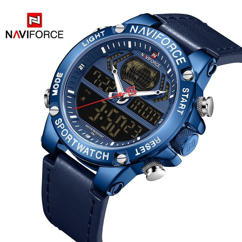 Новый NAVIFORCE Топ люксовый бренд мужские часы кварцевые цифровые часы мужские спортивные часы водонепроницаемые наручные часы Erkek Kol Saati