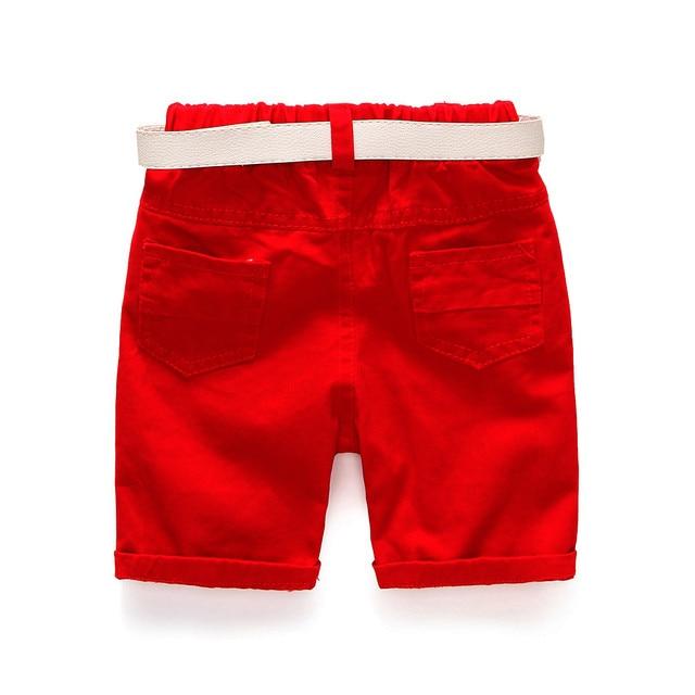 Baby Boys Clothing Sets Summer Children's T Shirts + Shorts + Belt 3pcs Suits Bow Pants Sports Kids Clothes Fashion Clothes 5