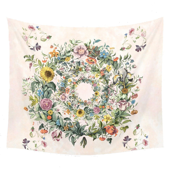 Floral Patterned Wall Tapestry 1