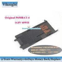 Genuine Clevo P650BAT 4 6 87 P650S 4U31 battery for Clevo P650SG P650SA P650SE 14.8V 60Wh Hasee Z7 Series Li ion Laptop Battery
