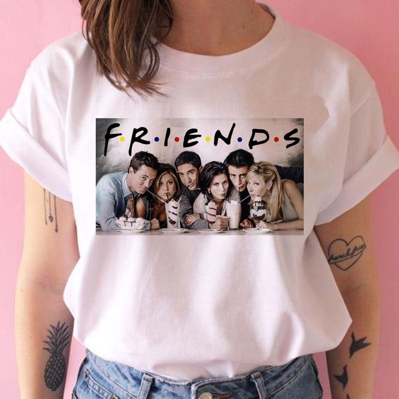 friends tv show women   t     shirt   new hip hop 90s friend tshirt harajuku femme clothes top tee   t  -  shirt   clothing streetwear