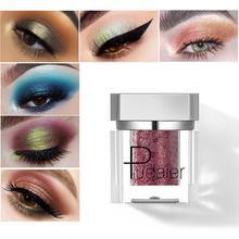 Pudaier Metallic Glitter Eye Shadow Pallete Diamond Shine Eyeshadow Pigment Sparkle Waterproof Soft Eye Makeup Cosmetic недорого