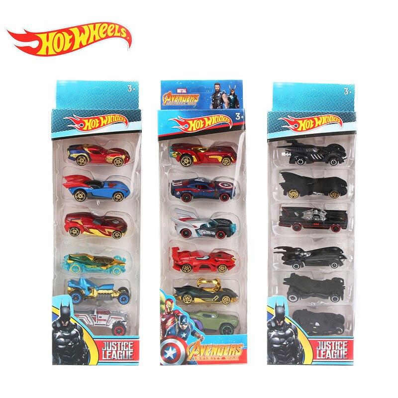 2019 Hotwheels Cars 5pcs/set Avengers Infinity War Alloy Cars Set Truck Model Car Hot Wheels 1:64 Fast And Furious Diecast Cars