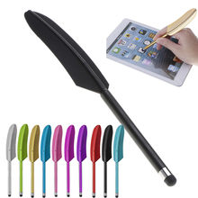 Nieuwe Ontwerp Veer Capacitieve Stylus Touch Screen Pen Tablet Pc Smart Telefoon Potlood Touch Screen Pen Voor Iphone Voor Samsung z0103(China)