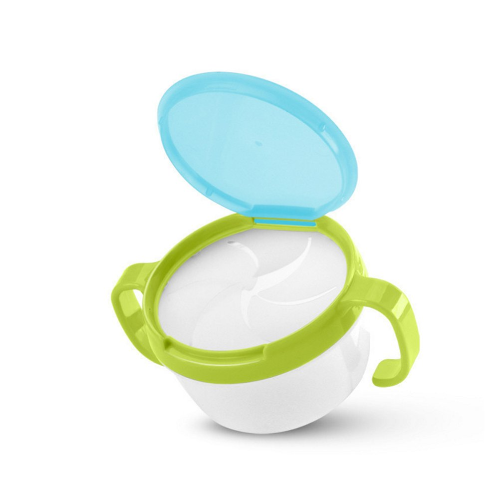 Portable Dual Handle Durable Baby Snacks Cup Cute Baby Toddler No Spill Snack Snacker Bowl Cup Container