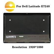 "12,"" сенсорный ЖК-экран для DELL Latitude E7240 E7250 LP125WF1-SPA4 PY6P2"