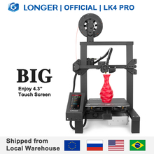 """長いLK4プロオープンソース3Dプリンタ4.3 """"フルカラータッチスクリーンフルメタル高精度impresora 3D"""