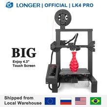 """Plus longue imprimante 3D Open Source LK4 Pro 4.3 """"écran tactile polychrome plein métal haute précision Impresora 3D"""