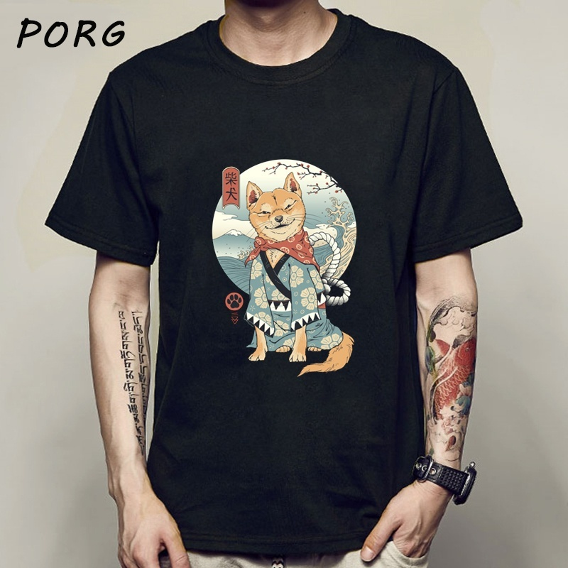 Shiba Inu Japanese Printed Funny Men/Women Tshirt Anime Shirt Oversized Clothes O-Neck Funny T Shirts For Men Tops Tees 2020