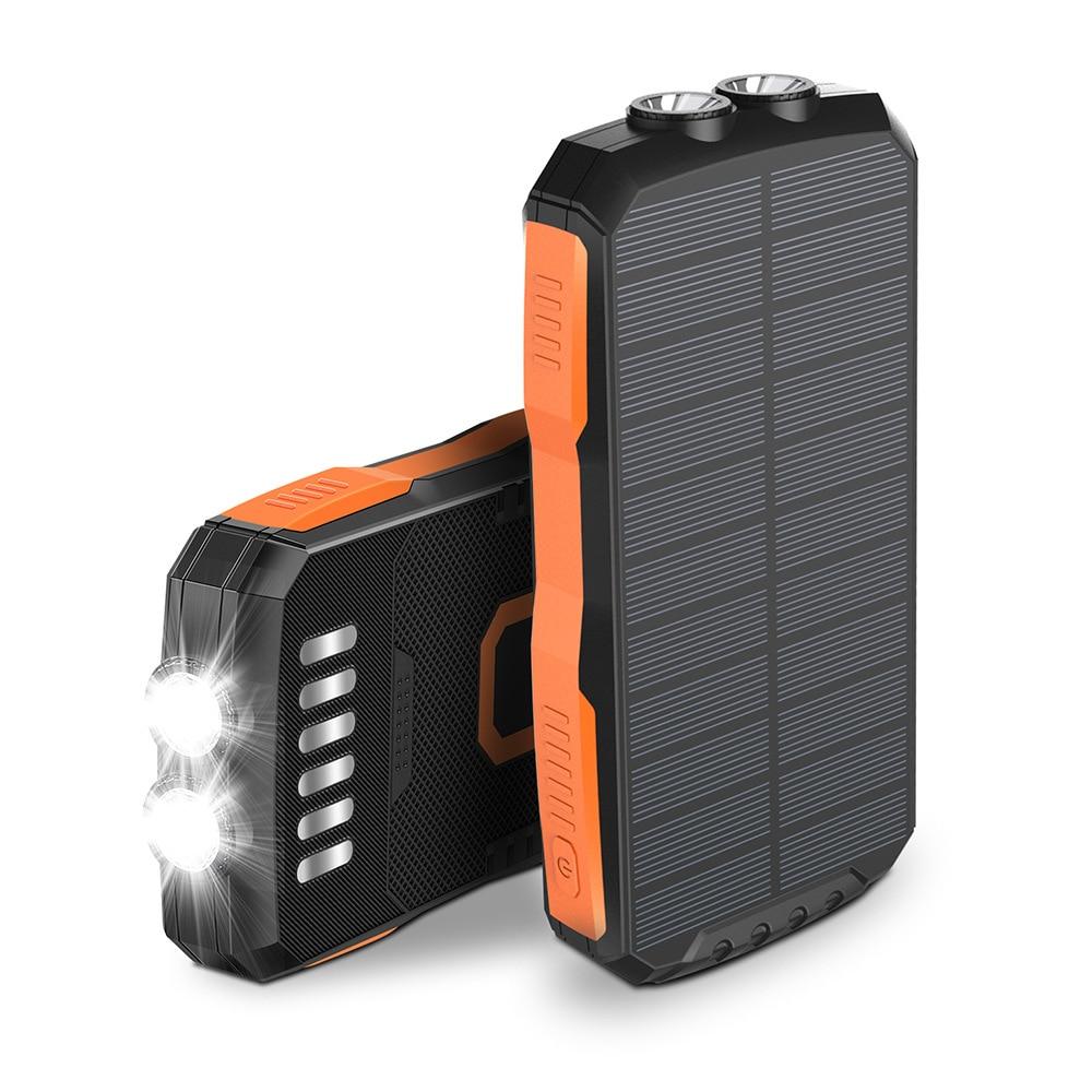 Портативное зарядное устройство Qi, 25000 мАч, беспроводное зарядное устройство для iPhone, Samsung, внешний аккумулятор, фонарик